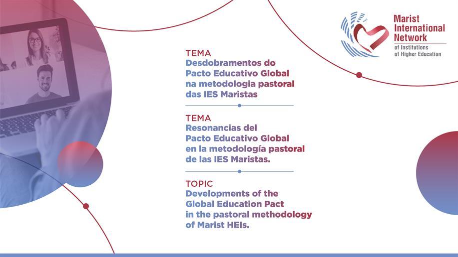 Evento online busca gerar diálogo entre iniciativas pastorais da Rede Marista Internacional de IES