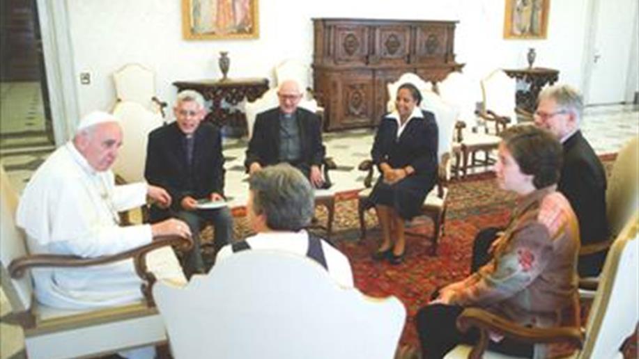 No dia do nosso fundador, Marcelino Champagnat, o Papa Francisco recebeu, para uma audiência particular, a presidência da Confederação Latino-Americana e Caribenha de Religiosos (Clar), da qual o Provincial e Presidente das mantenedoras, Ir. Inacio Etges,