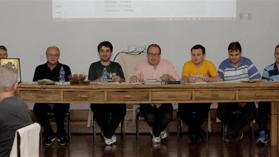 Abertura oficial do o 1º Capítulo Provincial da Província Marista Brasil Sul-Amazônia. Após as palavras do Provincial,