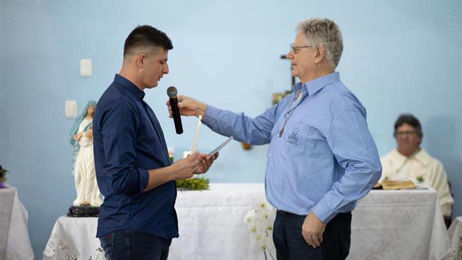 A celebração foi realizada na missa de encerramento do Retiro de Irmãos