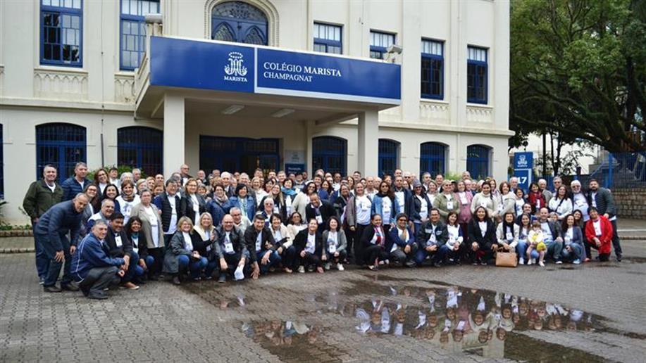 Mais de 180 Leigos, Leigas e Irmãos Maristas estiveram reunidos no Colégio Marista Champagnat