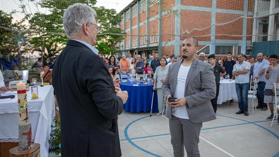 A cerimônia foi realizada na Escola e Centro Social Marista Santa Marta, em Santa Maria